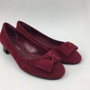 Franco Sarto Red Pumps Bow Size 7.5